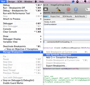 Special Breakpoints in XCode