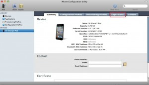 iPhone Configuration Utility - Applications