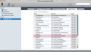 iPhone Configuration Utility - Install Applications
